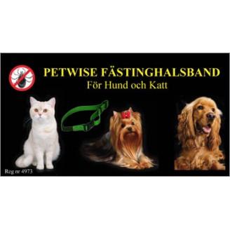 Petwise Fästinghalsband Katt/Hund <35cm
