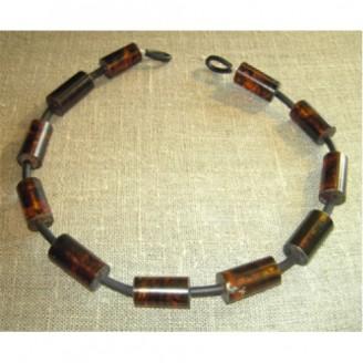 Bärnstenshalsband långhår 40cm (Fraktfritt)