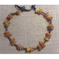 Bärnstenshalsband 35cm (Fraktfritt)