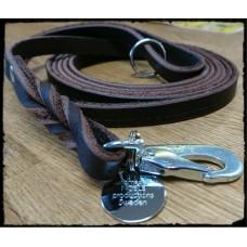 Läderkoppel till hund 12mm 260cm BGB ***EXTRA LÅNGT***