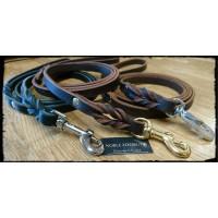 Läderkoppel till hund 15mm 130-150cm perfekt som stadskoppel
