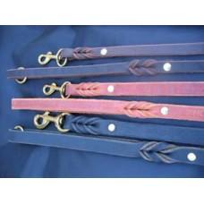 Läderkoppel till hund 12mm 200cm Mässingshake och helsvetsad uppkopplingsring