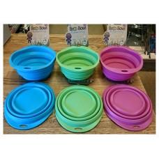 Vattenskål eller matskål hopfällbar. BecoBowl  (Ecovänlig skål)