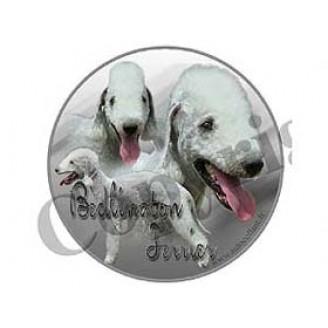 Dekal Rund Bedlington Terrier