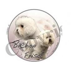 Dekal Rund Bichon Frise