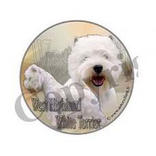 Dekal Rund West Highland White Terrier