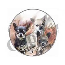 Dekal Rund Chihuahua Korthårig