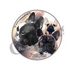 Dekal Rund Fransk Bulldog