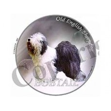Dekal Rund Old English Sheepdog