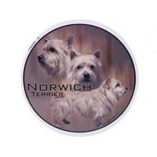 Dekal Rund Norwich Terrier