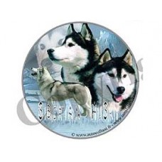 Dekal Rund Siberian Husky