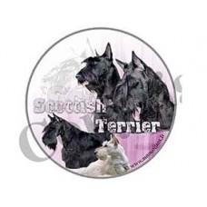 Dekal Rund Skotsk Terrier