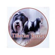 Dekal Rund Tibetansk terrier